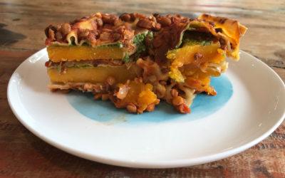 Healthy No Dairy Pumpkin Lasagne