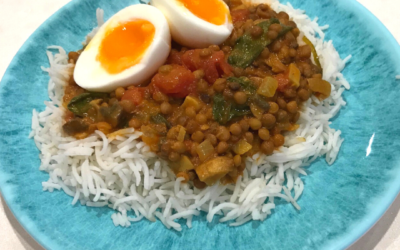 Lentil, Mushroom, and Egg Curry